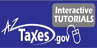 click this image to view the online tutorials for aztaxes.gov